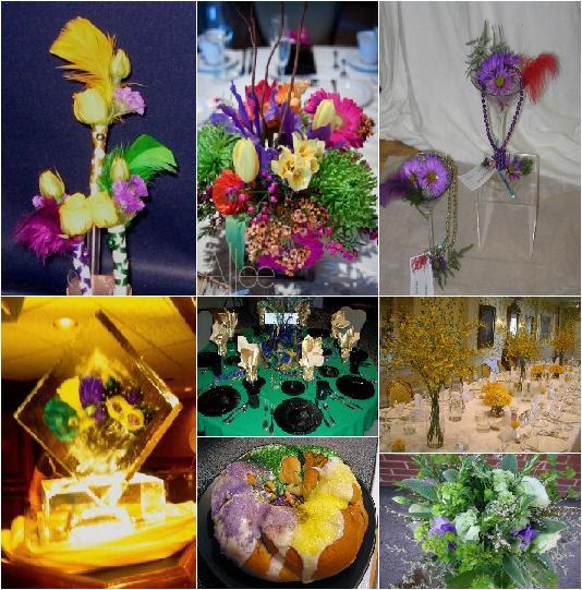 Mardi Gras Wedding Ideas: Gisy's Blog: Mardi Gras Theme Handmade Rose Wedding Bridal