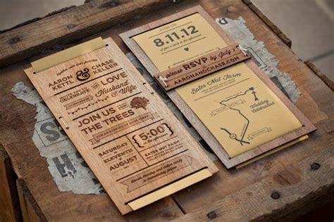 Invitaciones de madera   Blog de bodas de Una Boda Original