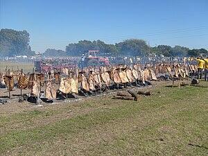 Español: El asado mas grande del mundo 2011 en...