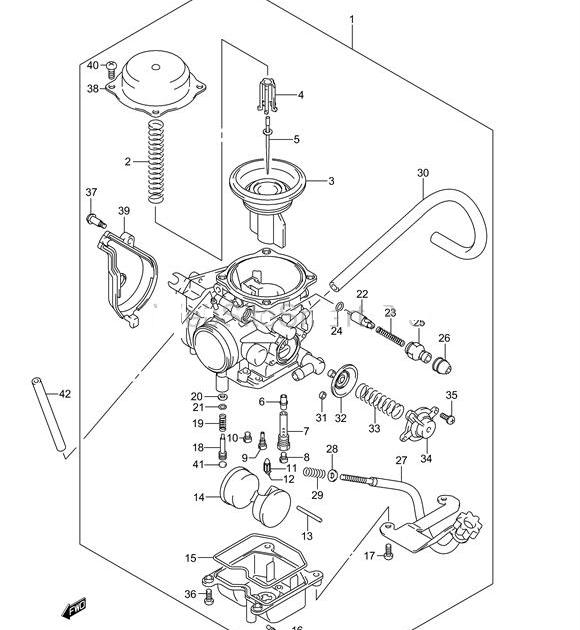 32 Suzuki Vinson 500 Carb Diagram