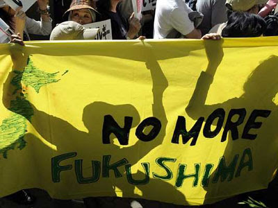 Manifestantes participan en una protesta antinuclear en Tokio, Japónhoy. La detención hoy en Japón del último reactor nuclear activo tras la crisis en Fukushima deja a la tercera economía mundial, por primera vez en 42 años, sin centrales atómicas y ante el reto de afrontar el caluroso verano con otras fuentes de energía. EFE/Franck Robichon