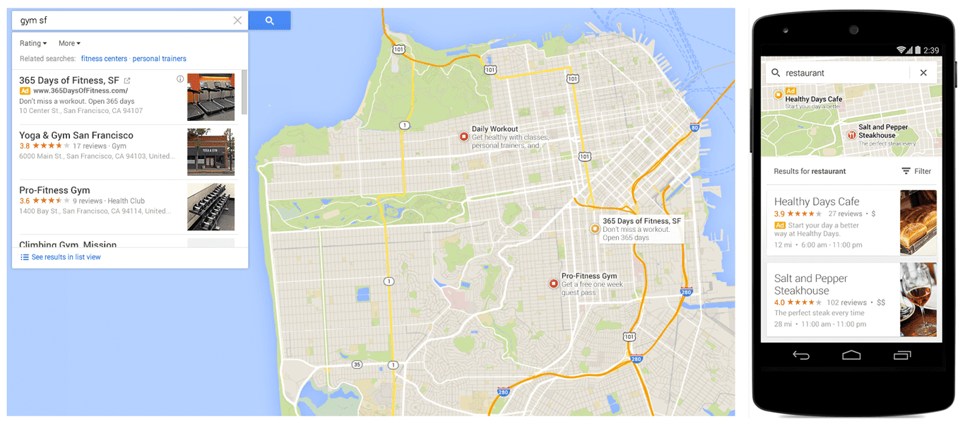 Ads On Google Maps Now Show In New Scrolling List View In