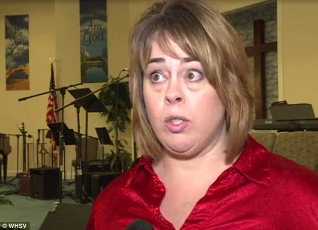 Infuriated parent:Kimberly Herndon, whose son is in the world geography class, accused his social studies teacher of indoctrinating students into the Islamic faith