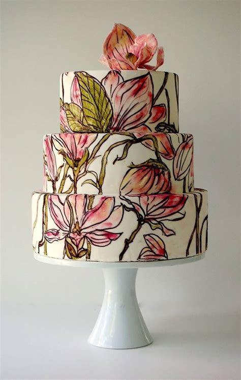 Amazing Painted Wedding Cakes