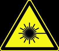 Warning for laserbeam, symbol D-W010 according...