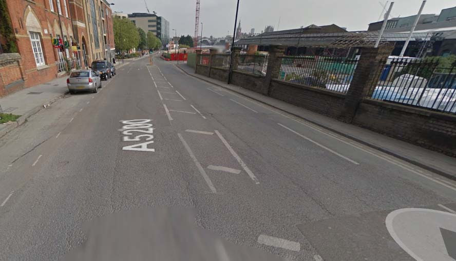 York Way, north of King's Cross - image from Google Streetview