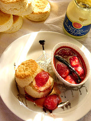 simple scones and an equally simple strawberry...