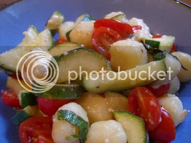 Food alla Puttanesca: Gnocchi with Summer Vegetables