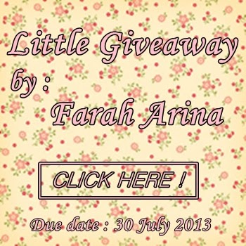 little giveaway by farah arina