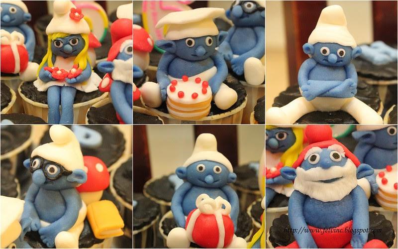 smurfs cup cake 2