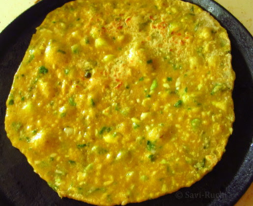 cabbage spinach paratha 1