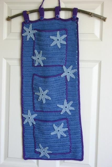 Crocheted hanging storage