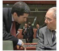 Vitor Gaspar e Wolfgang Schäuble