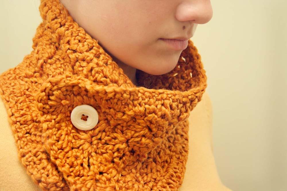 Pumpkin Spice Organic Cotton Scarflette/Collar