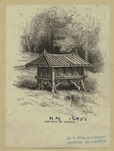 Bee-hive in Ramble. Digital ID: 800901. New York Public Library