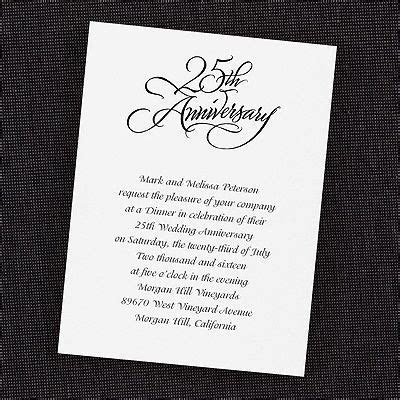 Silver   Invitation   Vertical   Anniversary Invitation