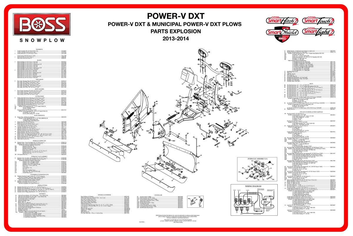 28 Boss V Plow Parts Diagram
