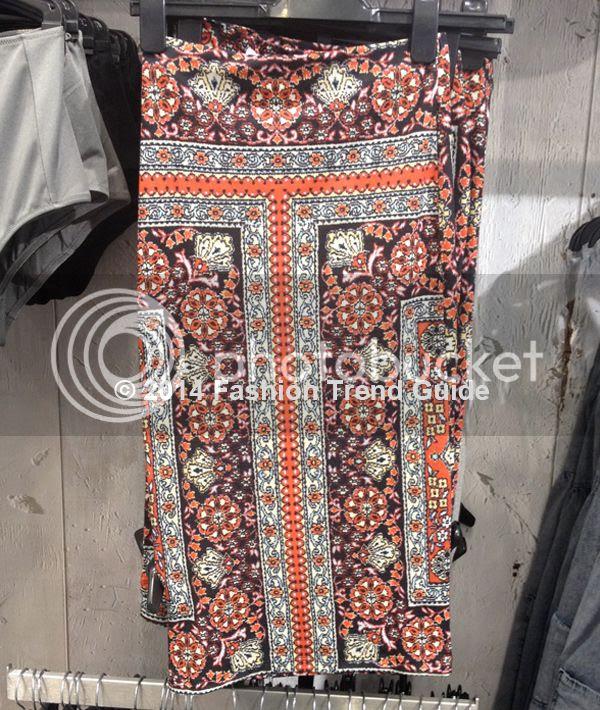 Topshop Persian rug printed tube skirt