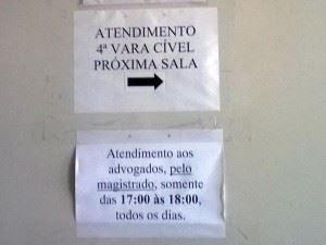 4ª Vara Cível de Taguatinga retira cartaz ofensivo às prerrogativas dos advogados