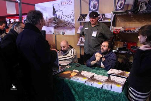 Visite de François Bayrou sur le stand Tartamudo by Tarek-comics