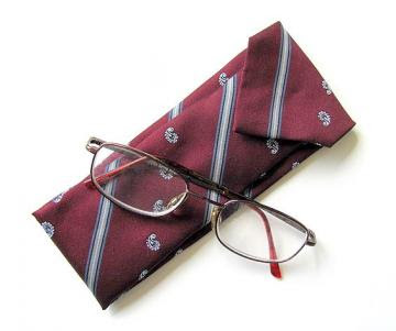 Upcycled Tie Eyeglasses Holder