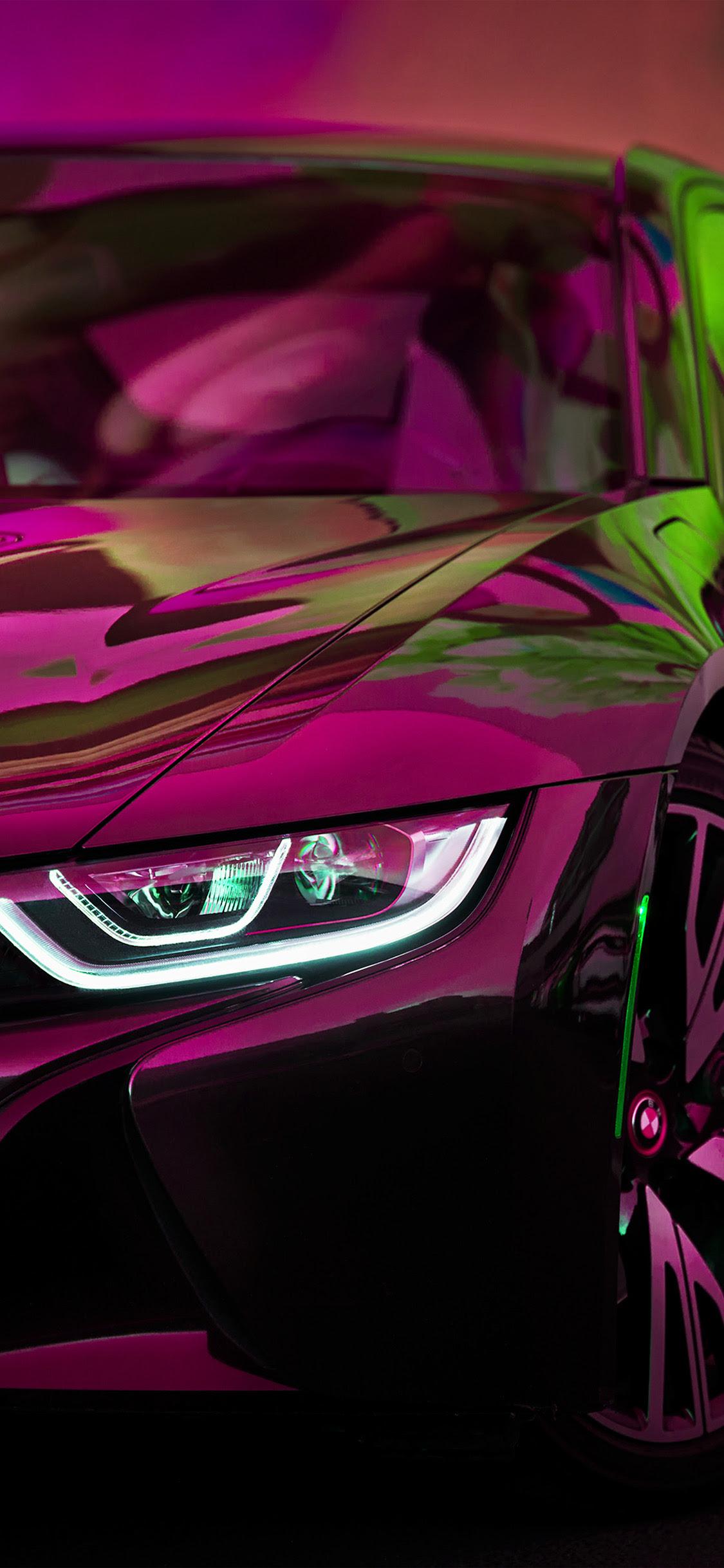 Iphonexpapers Com Iphone X Wallpaper Bf27 Bmw Rainbow Red Purple Car Art