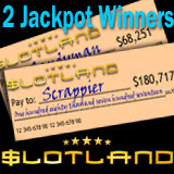 Slotland Has Two Slots Jackpot Winners in a Row