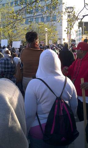 Thousands gathered in Hart Plaza in downtown Detroit on a day of action demanding justice for Trayvon Martin. The gathering took place on March 26, 2012. (Photo: Abayomi Azikiwe) by Pan-African News Wire File Photos