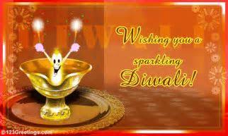 Wishing You A Sparkling Diwali  Free Diyas eCards