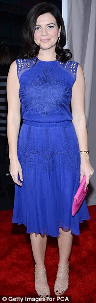 Under the sea: Casey Rose Wilson, Rachael Leigh Cook and Desi Lydic wore shades of blue and turquoise