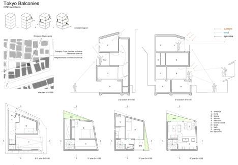 Tokyo-Balconies KINO Architects