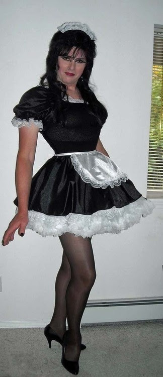 He likes ruffles and petticoats and being his girlfriend's special maid.