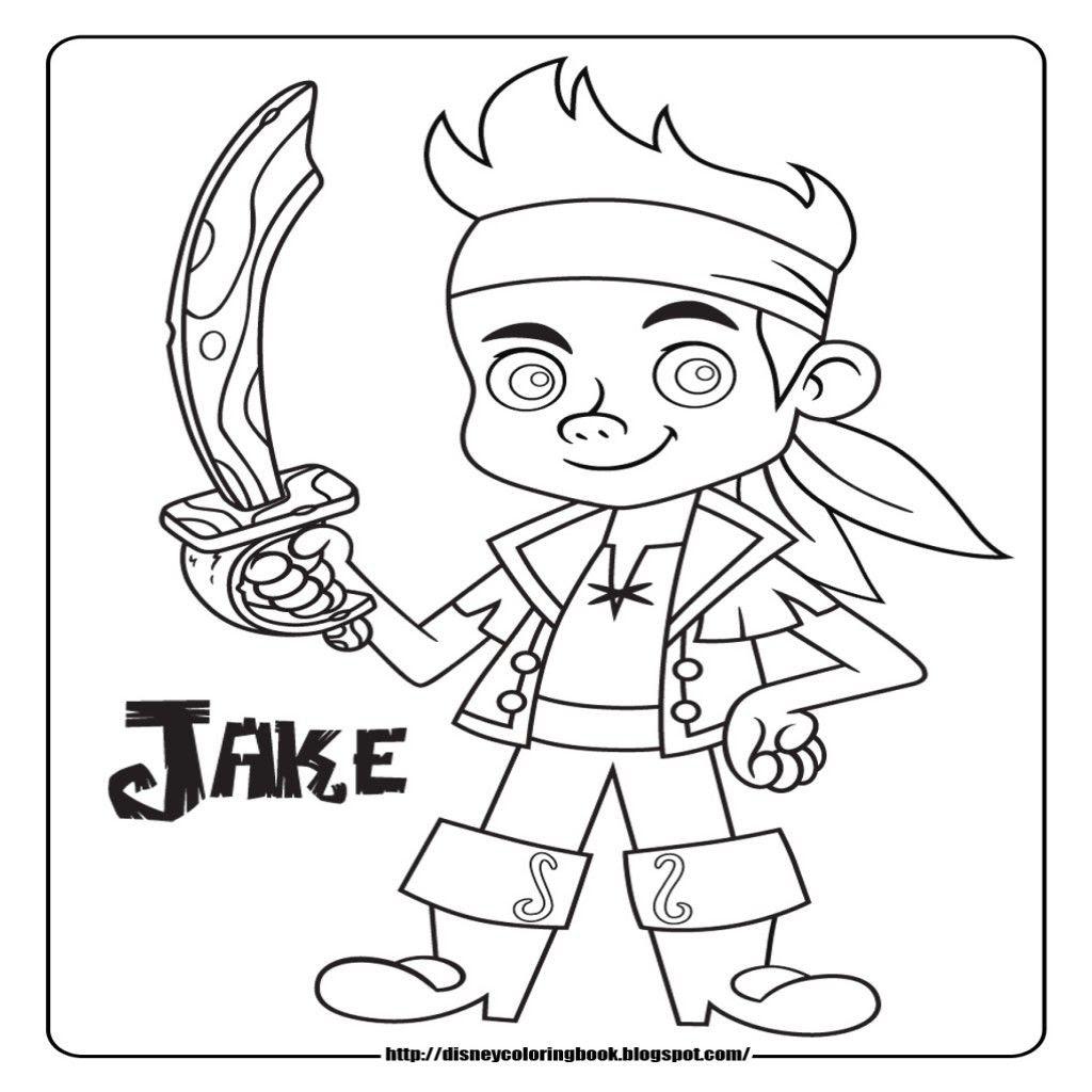 Dibujos Para Colorear Disney Junior Jake Y Los Piratas I Dibujos De