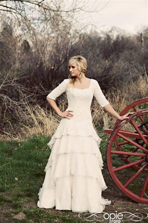 239 best images about Modest Wedding Gowns on Pinterest