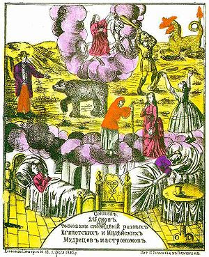 English: Lubok-style cover of a Russian dream ...