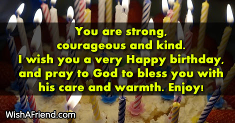 You Are Strong Courageous And Kind Women Birthday Saying