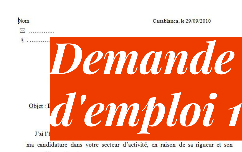 Exemple De Demande Manuscrite De Stage Dans Une Banque Pdf ...