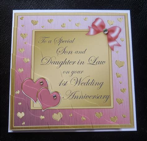 Special Son & Daughter In Law 1st Wedding Anniversary Card