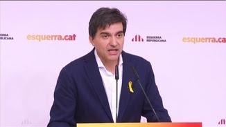 Sergi Sabrià, aquest dilluns després de l'executiva d'ERC