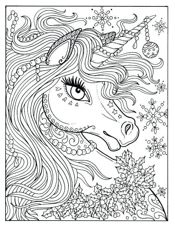 8100 Top Colouring Pages Of Unicorn  Images