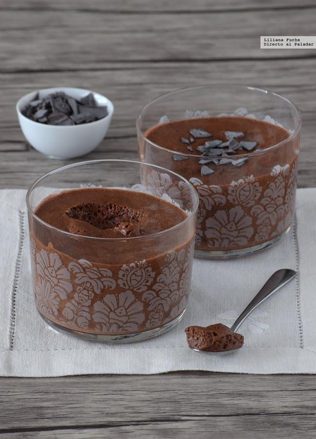 Mousse de chocolate sin huevo