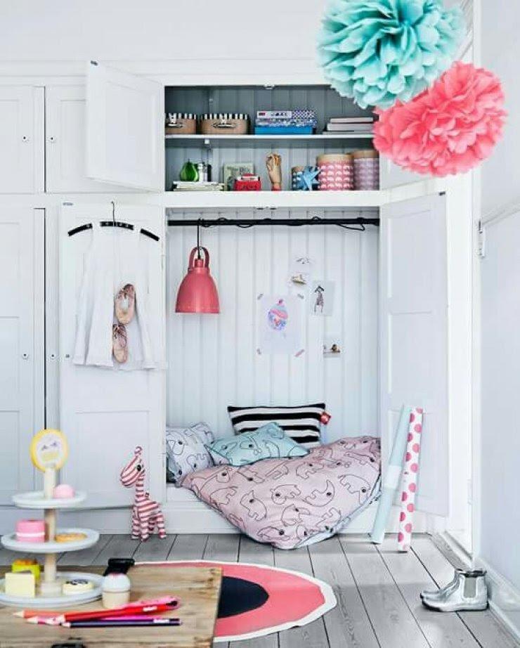 reading book in a closet