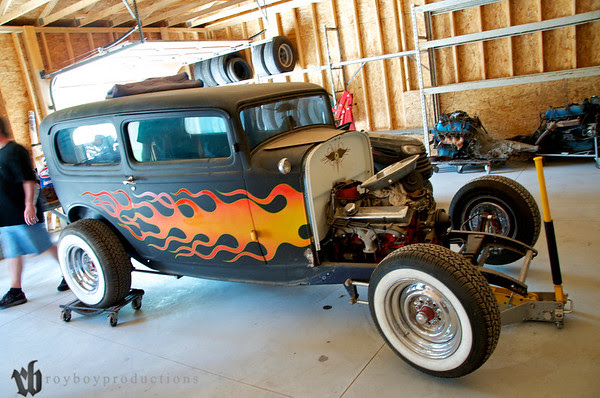 Next up for our group on the Garage Krawl was Rocky's shop. too many kool projects and auto memorabilia here!