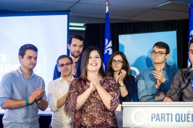 Ariane Cayer,présidente duComité national des jeunes du PQ.... (Photo Jocelyn Riendeau, archivesLa Voix de l'Est)