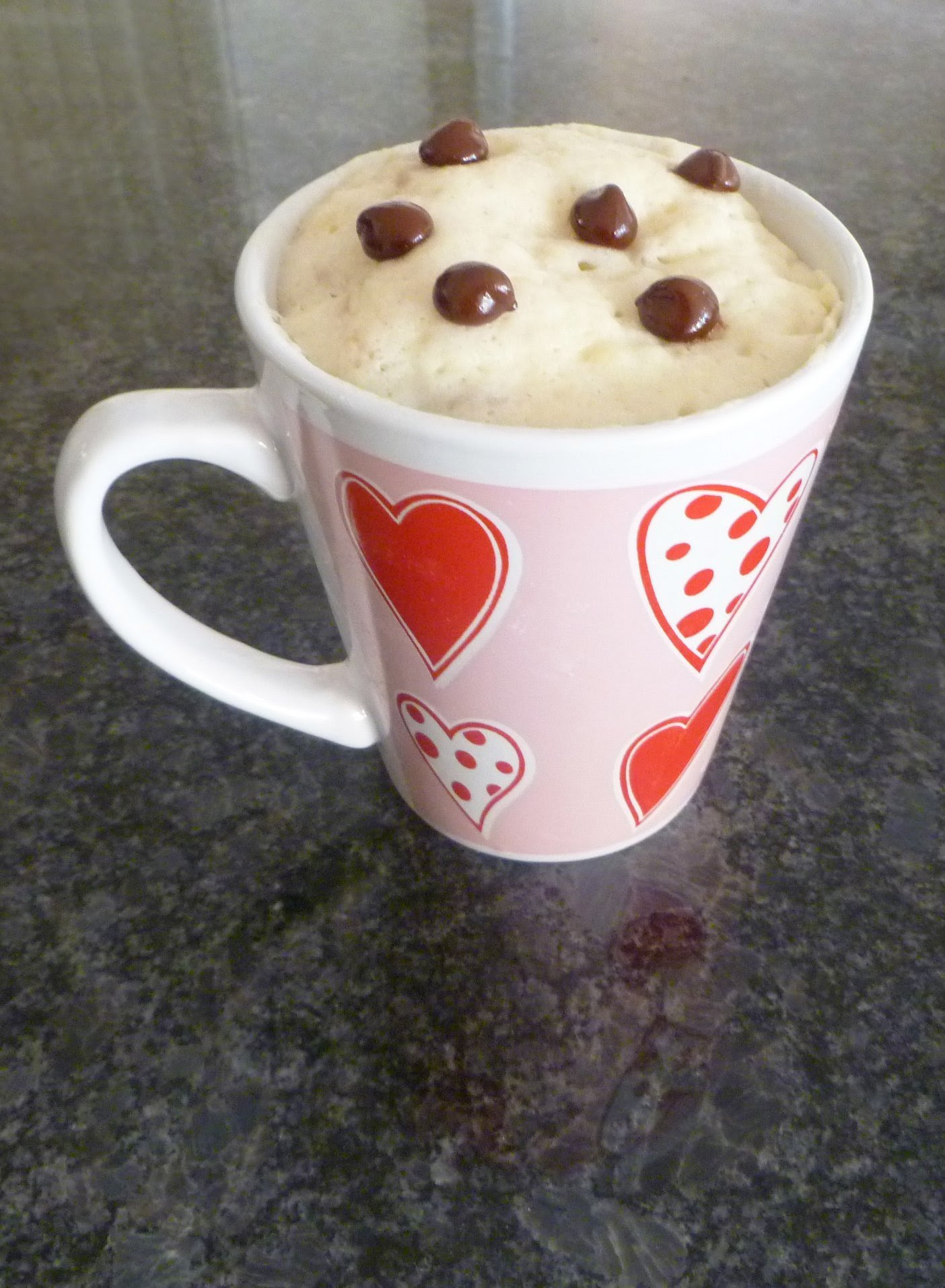 Chocolate Chip Banana Mug Cake - This Happy Mommy