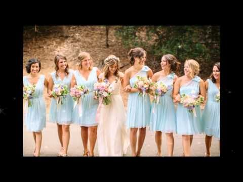 2015 Baby Blue Bridesmaid Dresses Collection