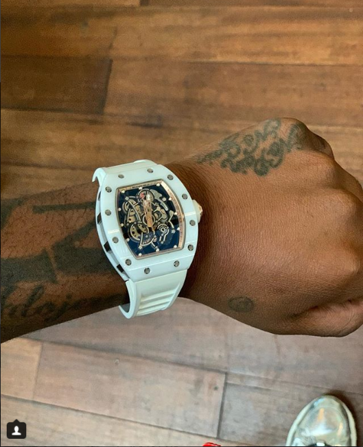 Davido shows off $300k Richard Mille timepiece as his early birthday gift (Photo)