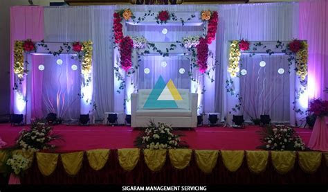 Wedding Decoratin at Sai Baba Tirumana Mandapam