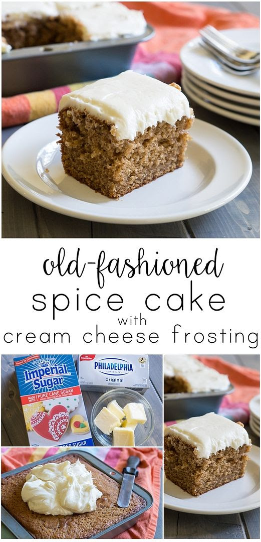 old-fashioned spice cake with cream cheese frosting. perfect.