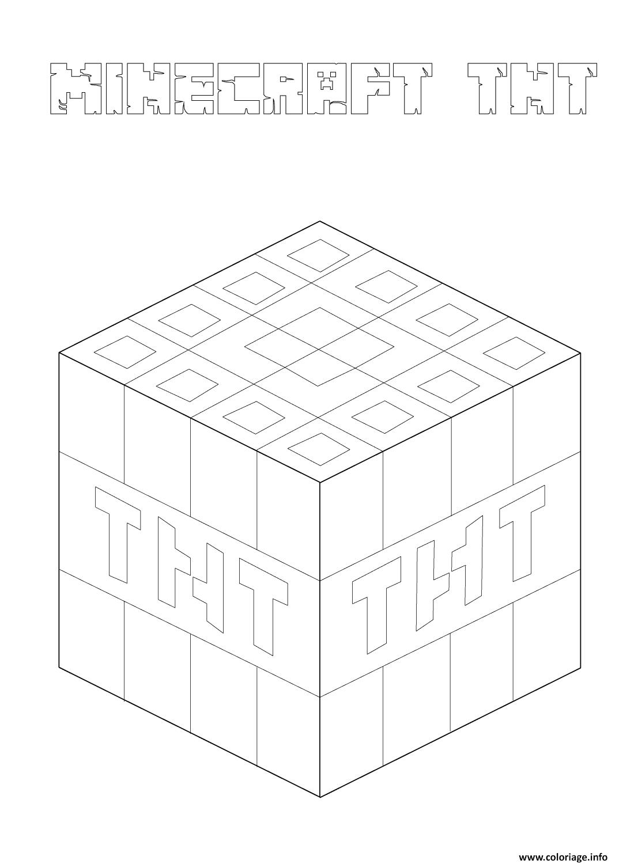 Coloriage Minecraft Tnt Jecoloriecom